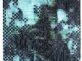 Kakejiku Series Nr. 1._ 2018_ weave of a digital print on photo paper and velvet paper_ 180 x 55 cm edited