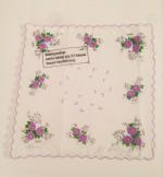 """""""Beweisstück"""" . 28 x 28 cm . Stempel auf Stoff . Ed. von 22 - 17-22/22 verfügbar . 2012 . Preis inkl. MwSt: 420,- Euro"""